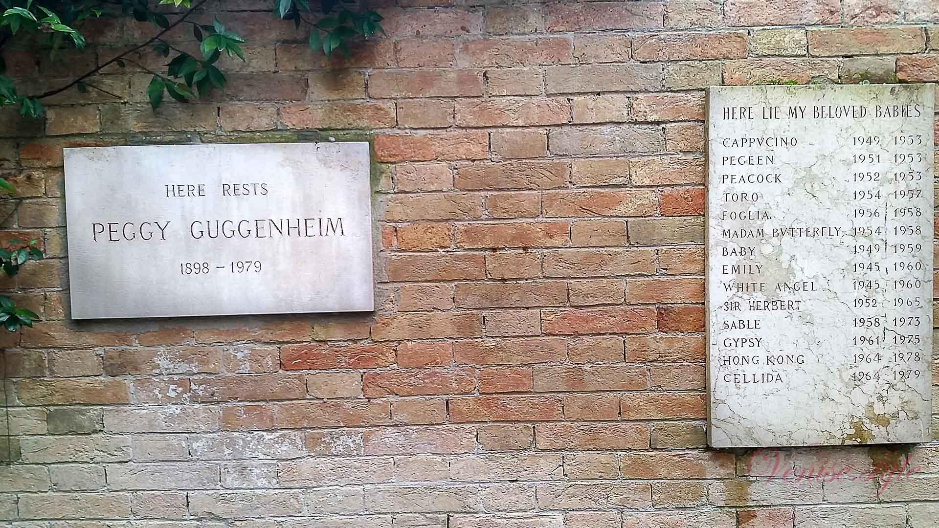 Tombe Peggy Guggenheim
